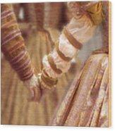 Renaissance Couple Holding Hands Wood Print