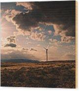 Renewable Energy Wood Print