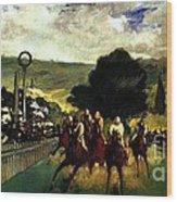 Rennen In Longchamp Wood Print