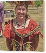 Rennfest Re-enactor 7396 Wood Print