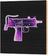 Replica Machine-gun Wood Print