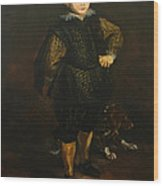 Replica Of Sir Anthony Van Dyck's Filippo Cattaneo Wood Print