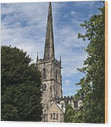 Repton Church Wood Print