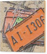 Republica Dominicana License Plates Wood Print