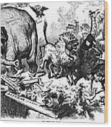 Republican Elephant, 1874 Wood Print