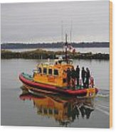 Rescue Boat Wood Print