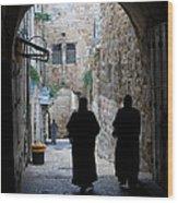 Residents Of Jerusalem Old City Wood Print