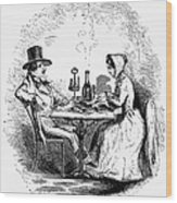 Restaurant, 19th Century Wood Print