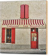 Restaurant In Provence Wood Print