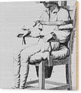 Restraining Chair 1811 Wood Print