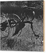 Retired Farmer Wood Print