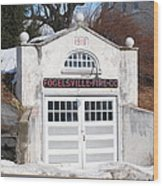 Retired Fire Station Wood Print