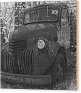 Retired Rusty Relic Farm Truck Wood Print