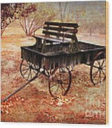 Retired Wagon 2 Wood Print