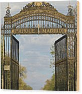 Retiro Park Entrance In Madrid Wood Print