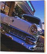 Retro Ford At Bob's Wood Print
