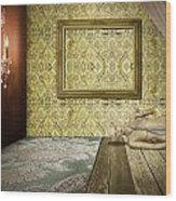 Retro Room Interior Wood Print