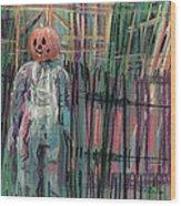 Return Of Pumpkinhead Man Wood Print