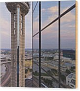 Reunion Tower Wood Print by Jeremy Woodhouse
