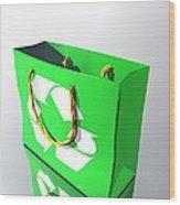 Reusable Shopping Bag, Artwork Wood Print