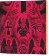 Revelation 666 Wood Print by Kenal Louis