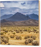 Reverse Mountains And Aeolian Buttes Wood Print