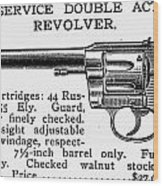 Revolver, 19th Century Wood Print