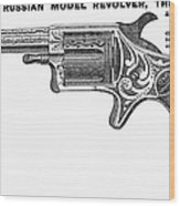 Revolver Ad, 1878 Wood Print