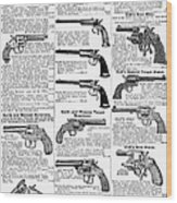 Revolvers And Pistols, 1895 Wood Print