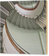 Revolving Stairs Wood Print by Photo By Dasar