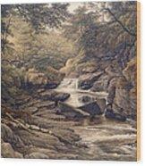 Rhiadr Ddu Near Maentwrog North Wales Wood Print