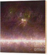 Rho Ophiuchi Nebula And Galactic Center Wood Print