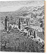 Rhodes, 1488 Wood Print