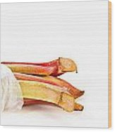 Rhubarb Wood Print
