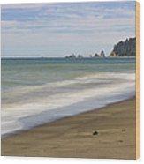 Rialto Beach Wood Print