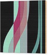 Ribbons Wood Print by Bonnie Bruno