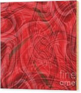 Ribbons Of Red Abstract Wood Print
