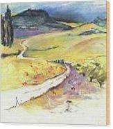 Ribera Del Duero In Spain 06 Wood Print