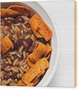 Rice And Beans With Chile Cheese Fritos Wood Print