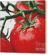 Rich Red Tomatoes Wood Print