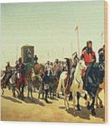 Richard Coeur De Lion On His Way To Jerusalem Wood Print