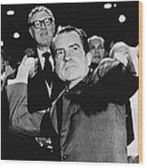 Richard Nixon (1913-1994) Wood Print