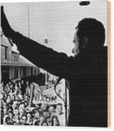 Richard Nixon Campaigning For Governor Wood Print