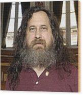 Richard Stallman, Software Developer Wood Print