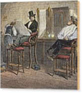 Richmond Barbershop, 1850s Wood Print