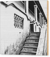 Richmond Stairs Bw Old Hostel Wood Print