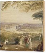 Richmond Terrace Wood Print by Joseph Mallord William Turner