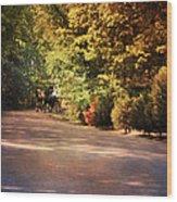 Ride At Timbers Farm Wood Print by Jai Johnson
