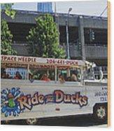 Ride The Ducks Wood Print