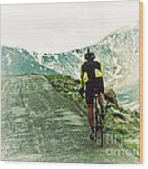 Ride The Rockies Wood Print